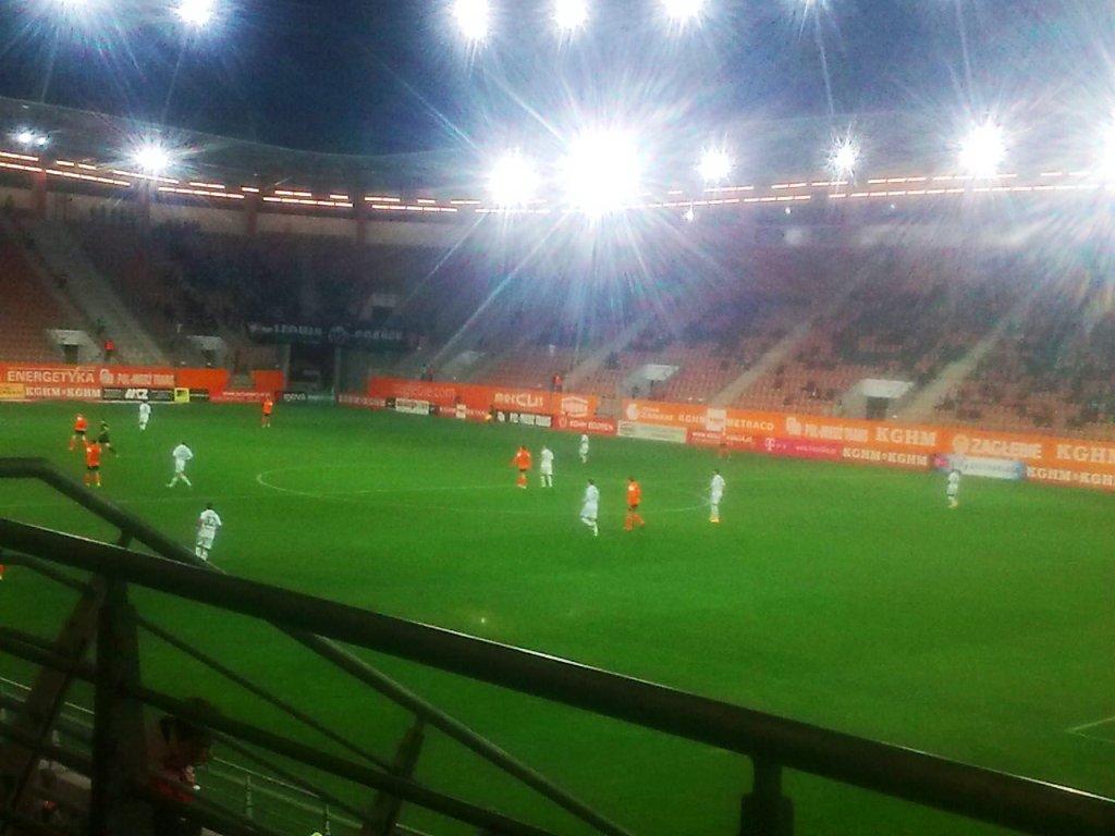 Na meczu w Lubinie